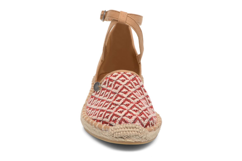 Espadrilles Esprit Ines ethno Rouge vue portées chaussures