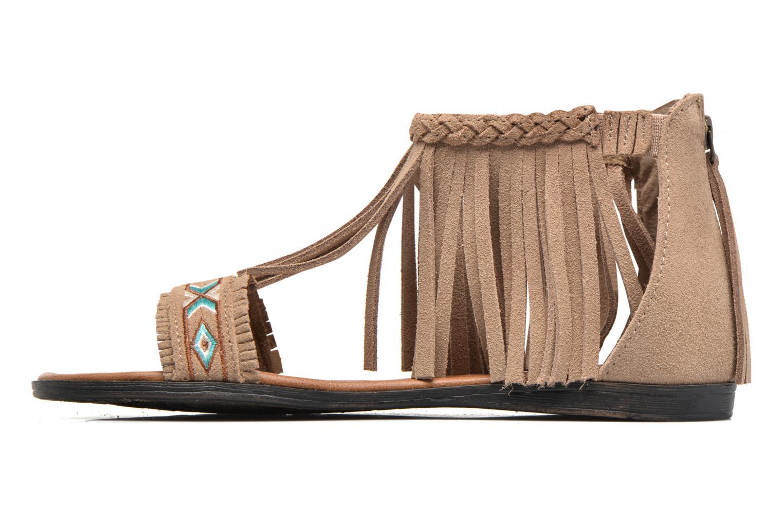 Sandales et nu-pieds Minnetonka Morocco Beige vue face