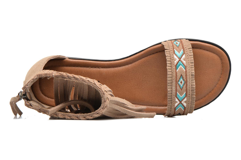 Sandali e scarpe aperte Minnetonka Morocco Beige immagine sinistra
