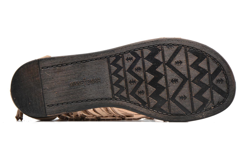 Sandales et nu-pieds Minnetonka Morocco Beige vue haut