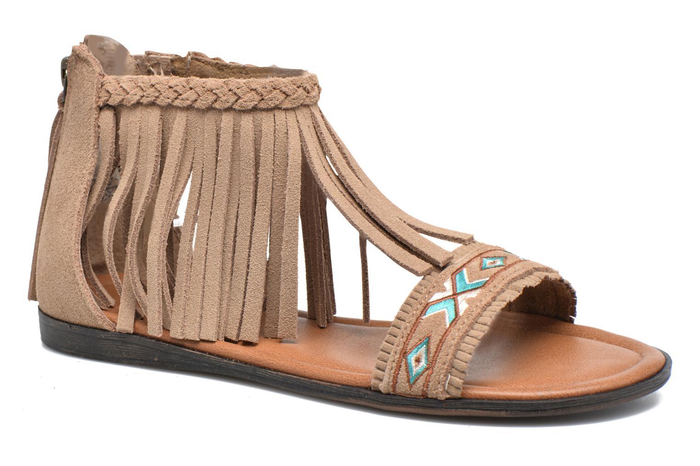 Sandales et nu-pieds Minnetonka Morocco Beige vue détail/paire