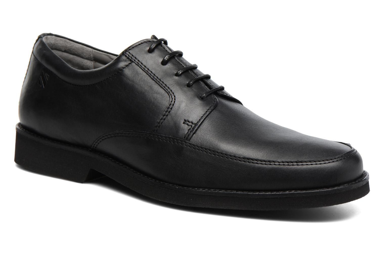 Lace-up shoes Sledgers Emerson Black detailed view/ Pair view