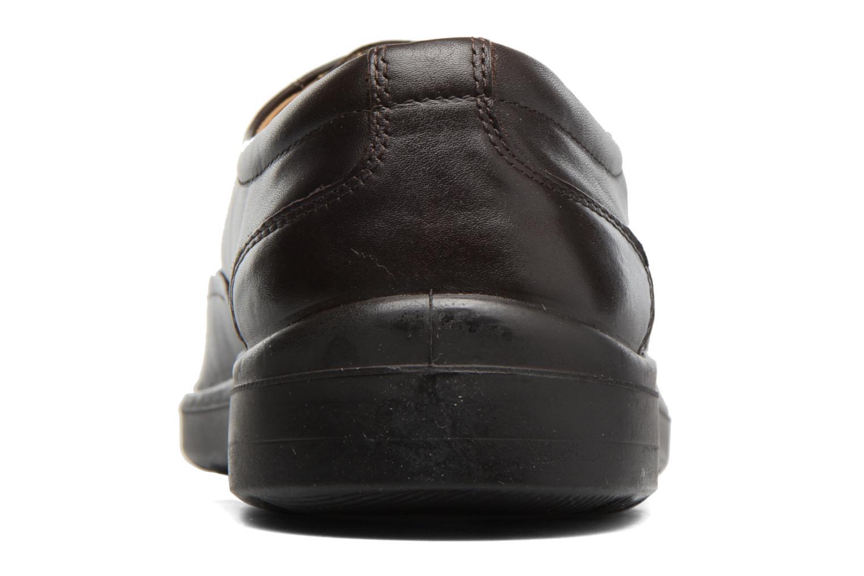 Snörade skor Sledgers Gaf Brun Bild från höger sidan