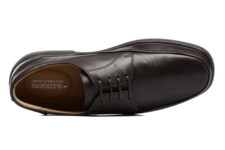 Snörade skor Sledgers Gaf Brun bild från vänster sidan