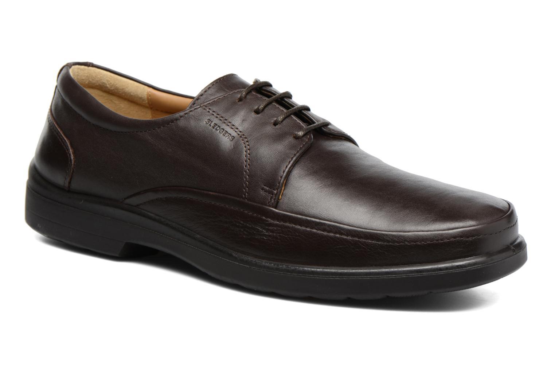 Chaussures à lacets Sledgers Gaf Marron vue détail/paire