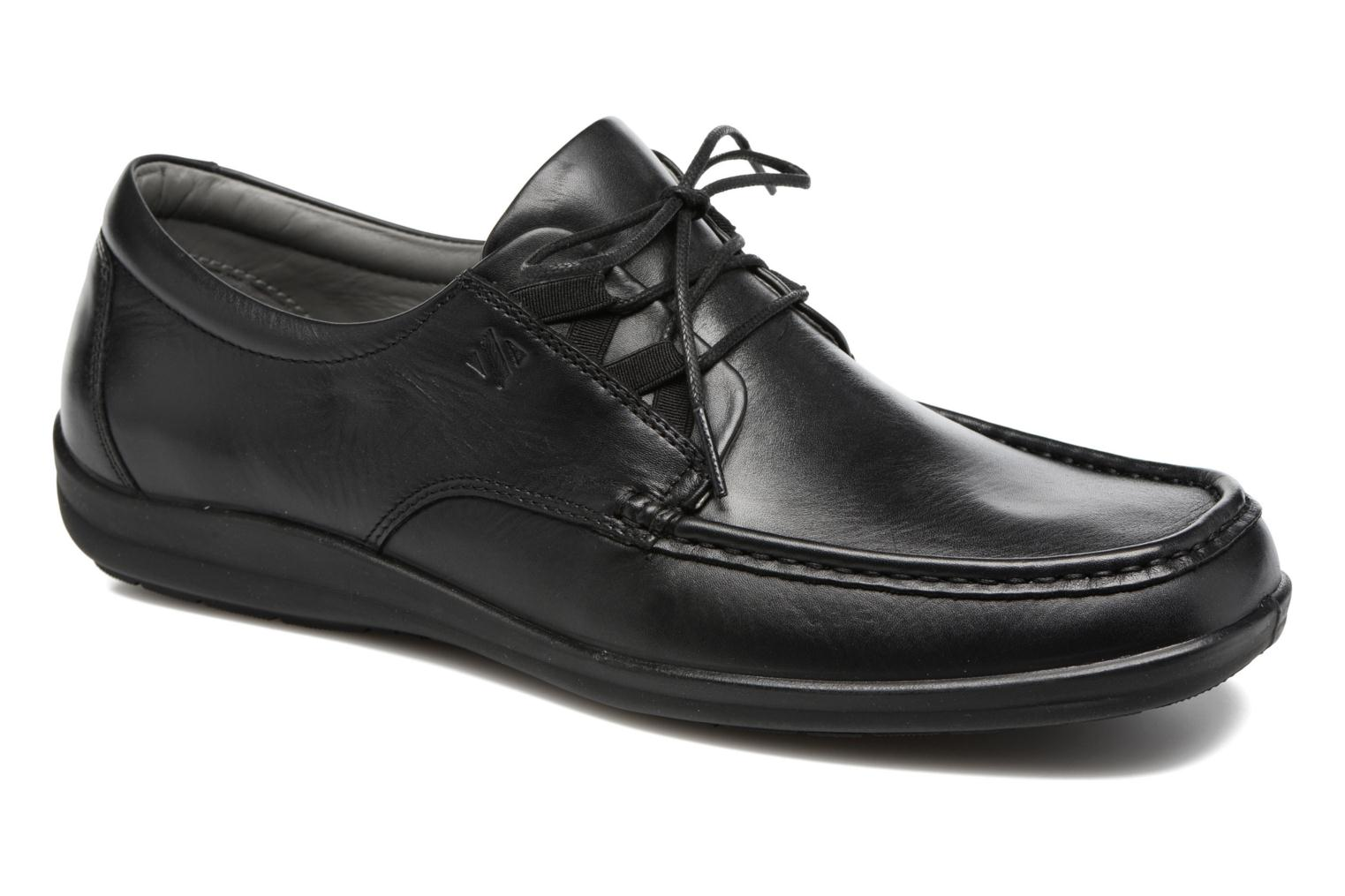 Lace-up shoes Sledgers Gus Black detailed view/ Pair view