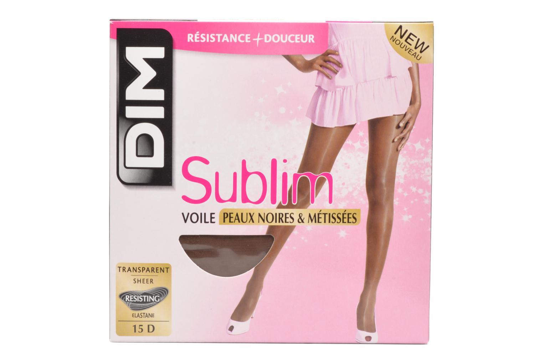 Socks & tights Dim Sublime Voile Brillant Peaux noires et métissées Beige detailed view/ Pair view