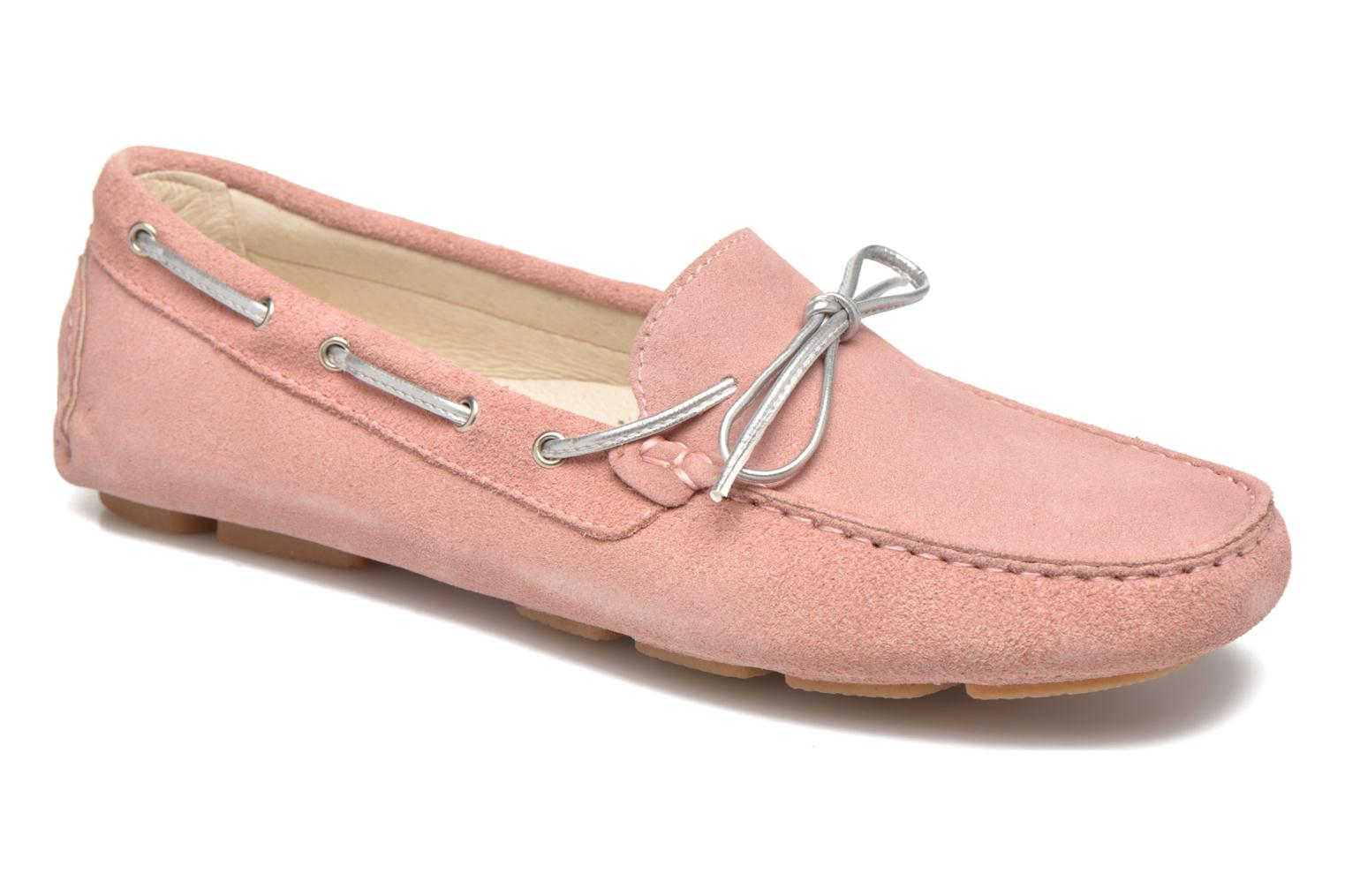Loafers Georgia Rose Rettac Pink detailed view/ Pair view