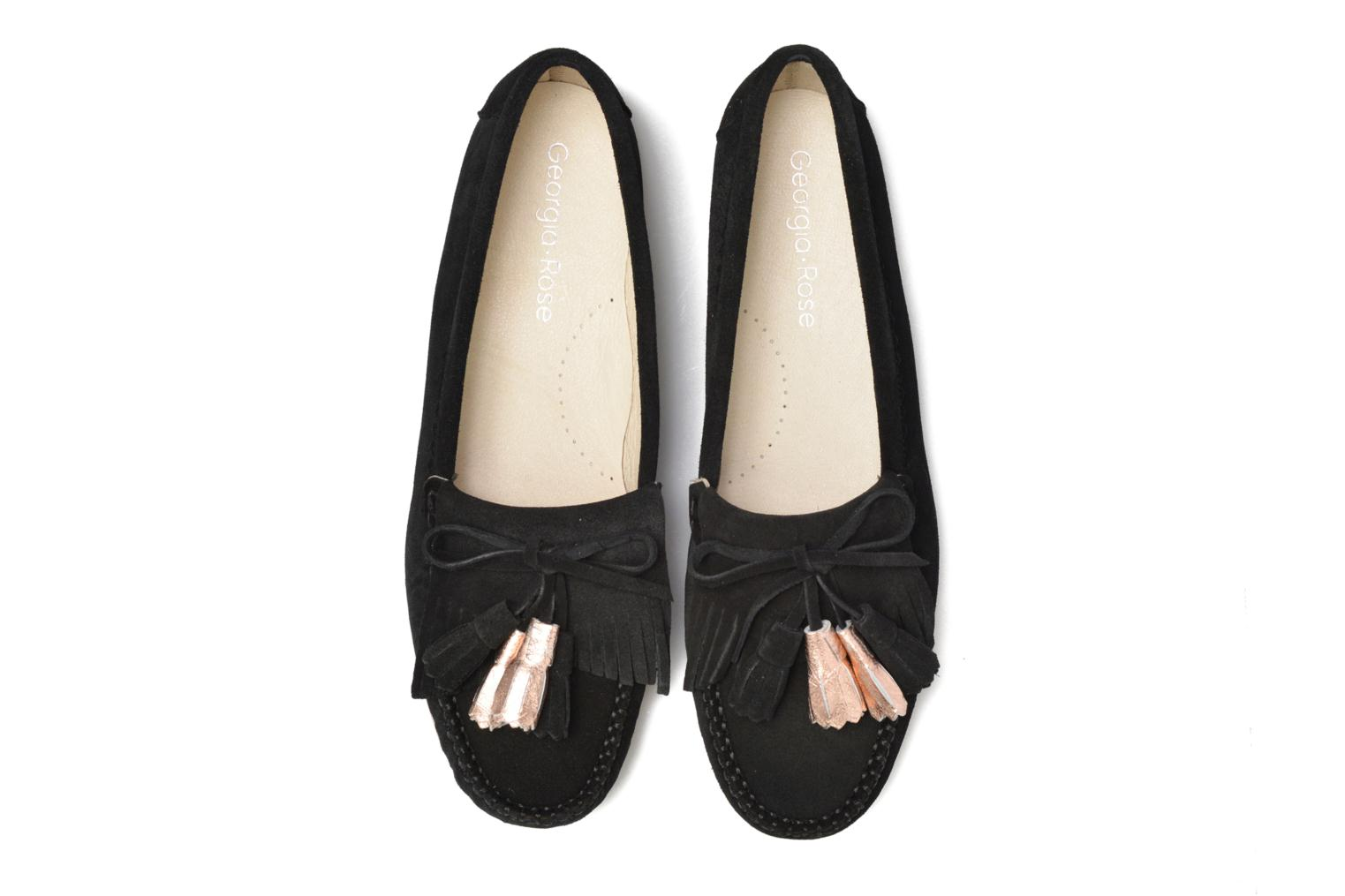Loafers Georgia Rose Retoumi Black 3/4 view