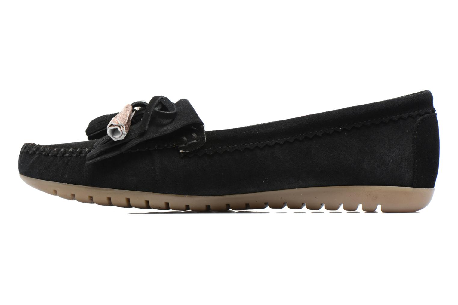 Loafers Georgia Rose Retoumi Black front view