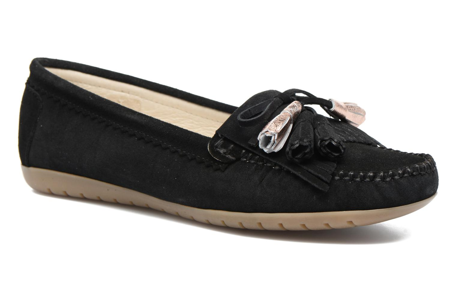 Loafers Georgia Rose Retoumi Black detailed view/ Pair view