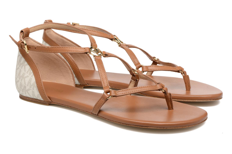 Sandales et nu-pieds Michael Michael Kors Terri Flat Sandal Marron vue 3/4