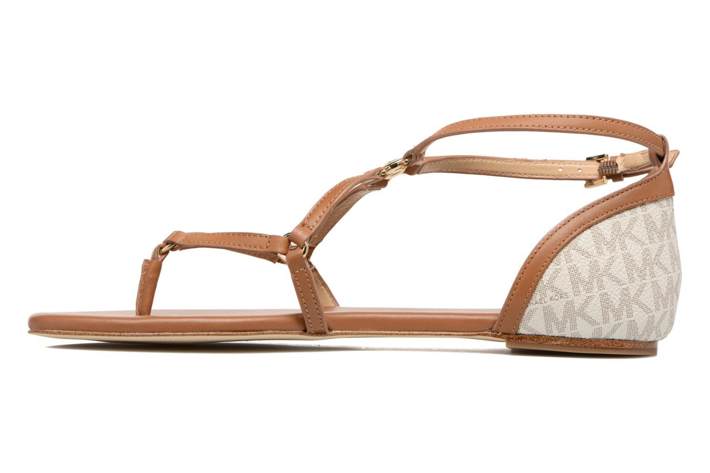 Sandales et nu-pieds Michael Michael Kors Terri Flat Sandal Marron vue face