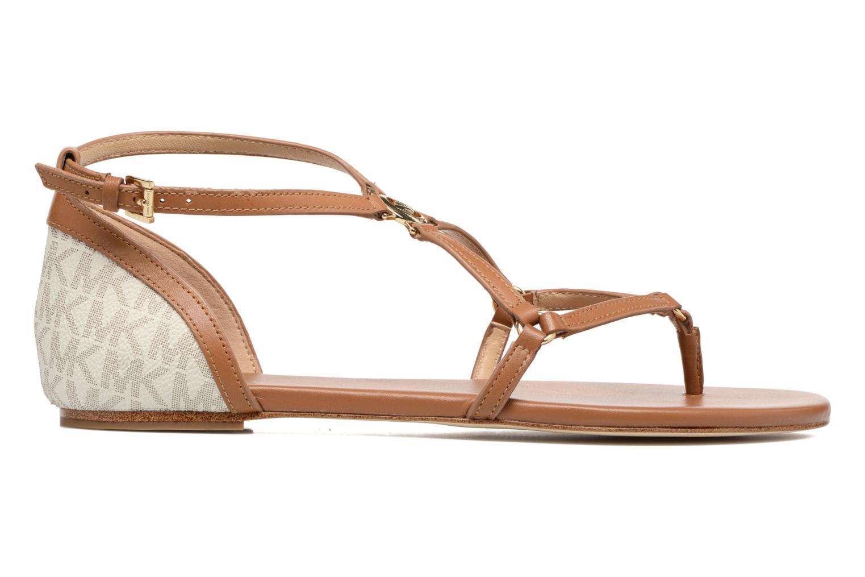 Sandales et nu-pieds Michael Michael Kors Terri Flat Sandal Marron vue derrière