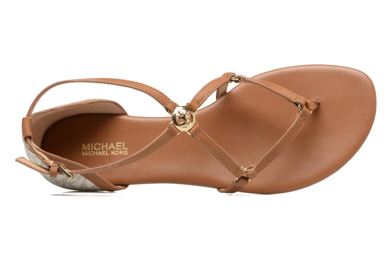 Sandales et nu-pieds Michael Michael Kors Terri Flat Sandal Marron vue gauche