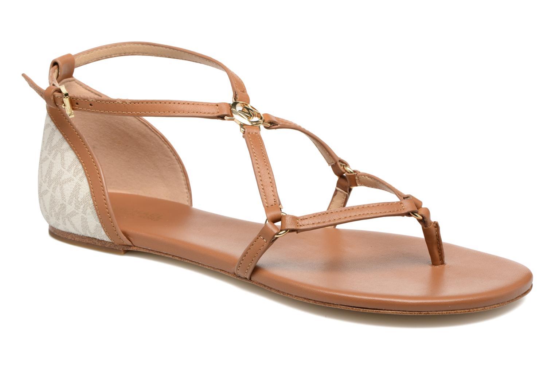Sandales et nu-pieds Michael Michael Kors Terri Flat Sandal Marron vue détail/paire