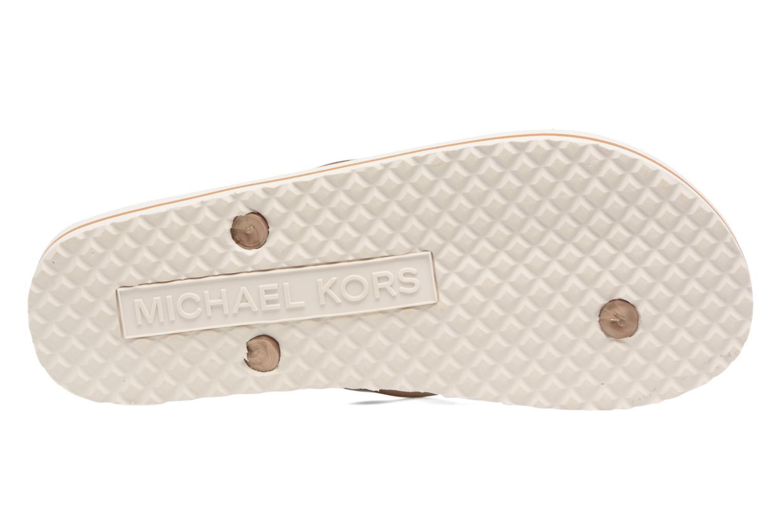 Slippers Michael Michael Kors Mk Flipflop Stripe Roze boven