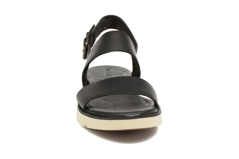 Sandalen Timberland Bailey Park Slingback schwarz schuhe getragen
