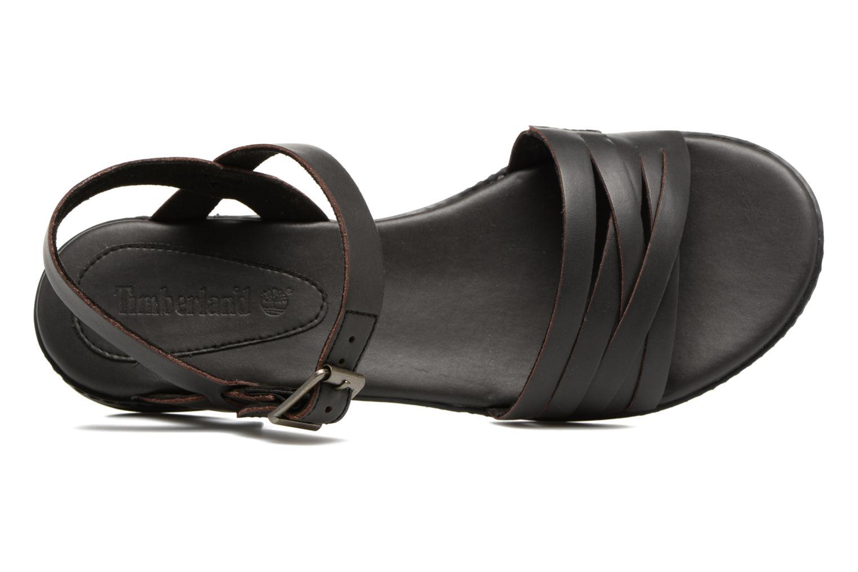 Sandalen Timberland Cherrybrook Ankle Strap schwarz ansicht von links