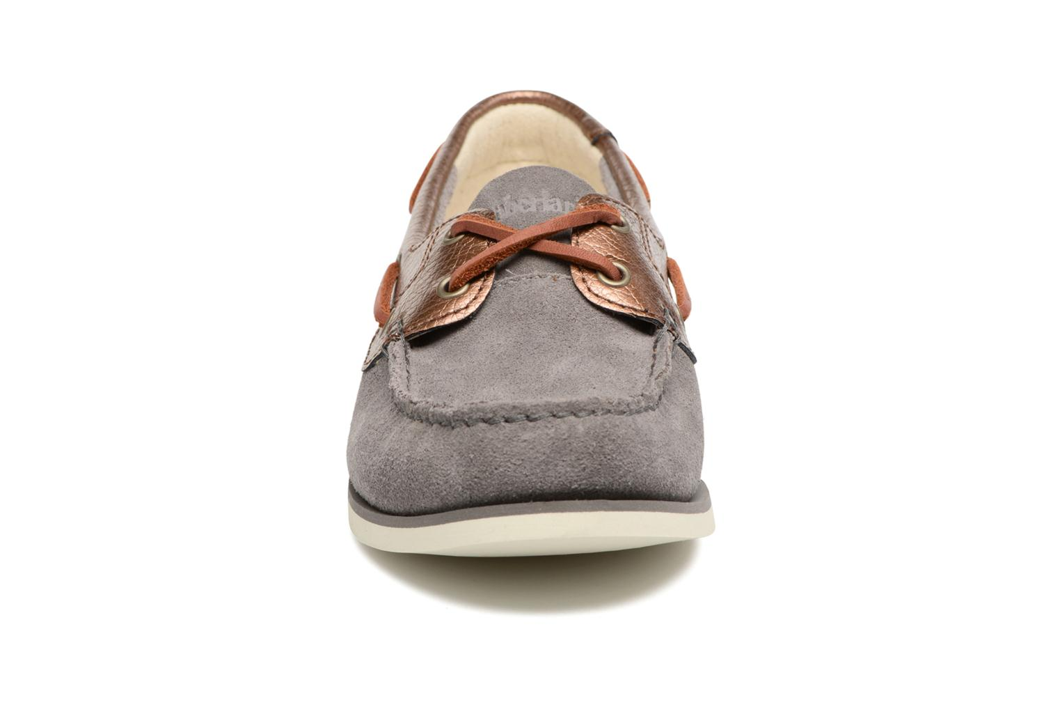 Chaussures à lacets Timberland Classic Boat Unlined Boat Gris vue portées chaussures