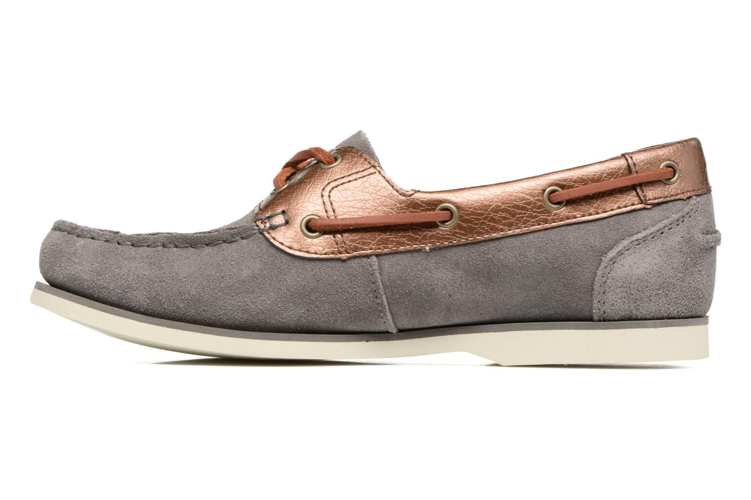 Chaussures à lacets Timberland Classic Boat Unlined Boat Gris vue face
