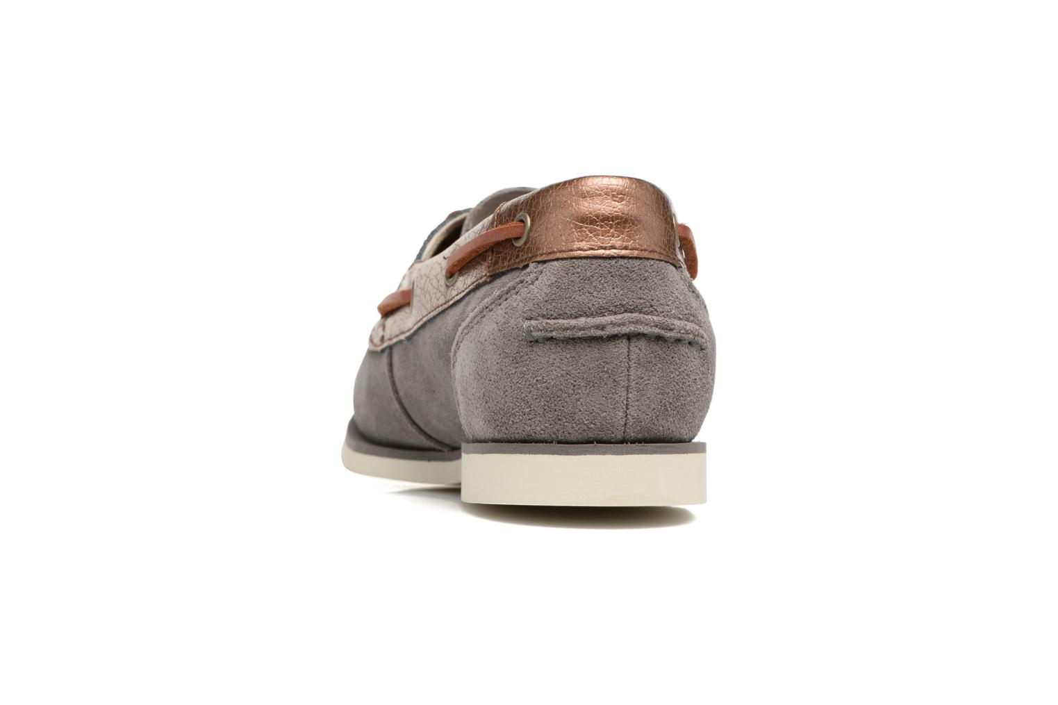 Chaussures à lacets Timberland Classic Boat Unlined Boat Gris vue droite