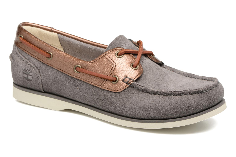 Chaussures à lacets Timberland Classic Boat Unlined Boat Gris vue détail/paire