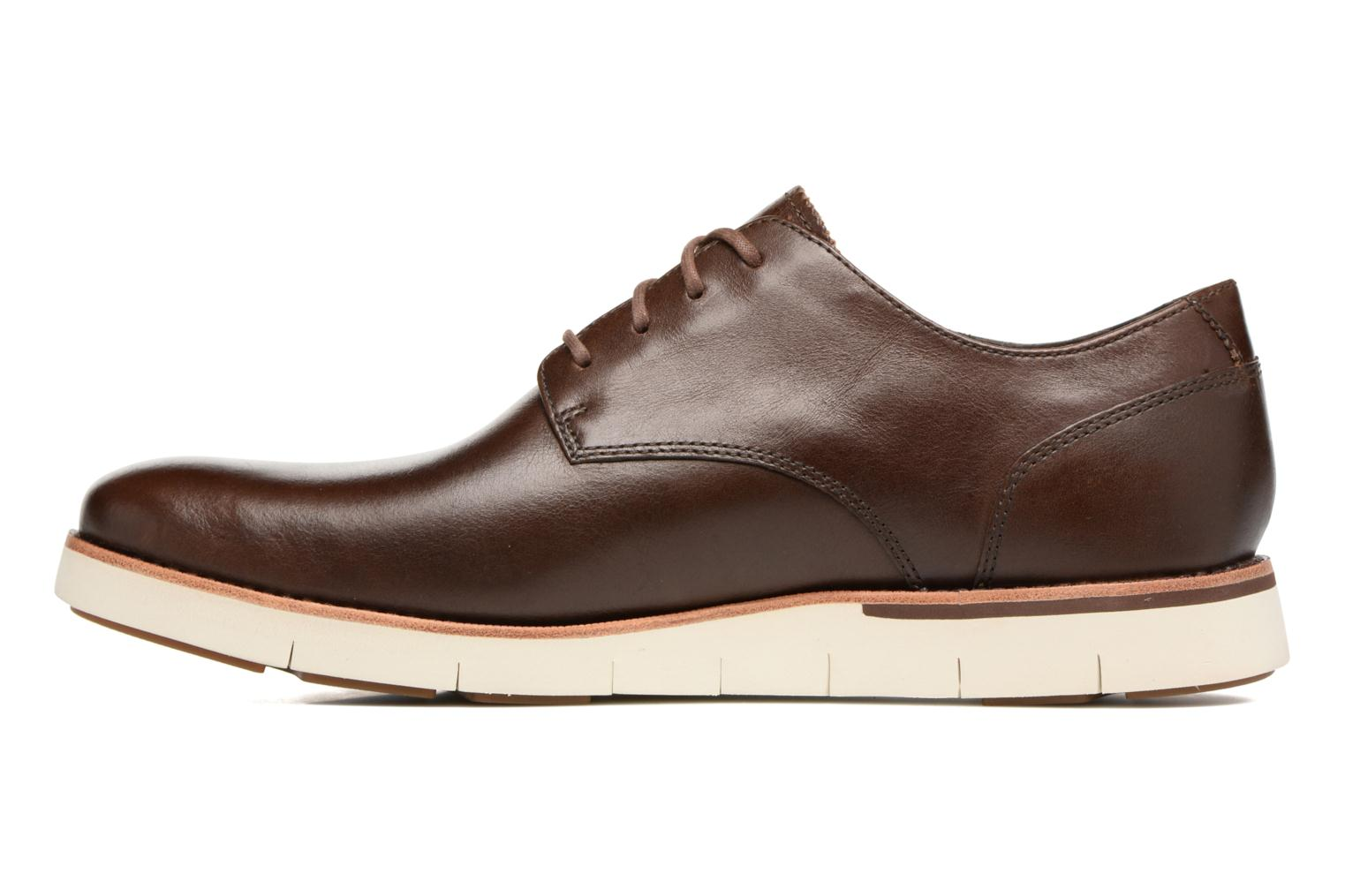 Chaussures à lacets Timberland Preston Hills Perf Ox Marron vue face