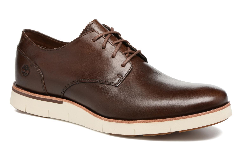 Chaussures à lacets Timberland Preston Hills Perf Ox Marron vue détail/paire
