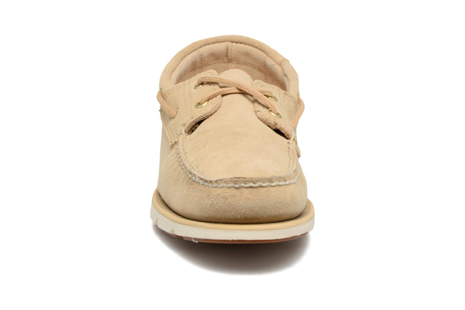Chaussures à lacets Timberland Tidelands 2 Eye Beige vue portées chaussures