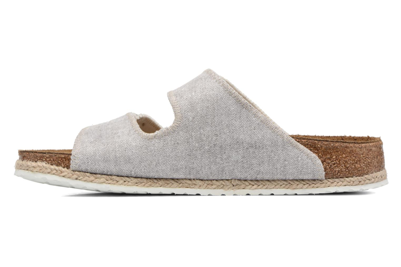 Clogs & Pantoletten Papillio Arizona textile grau ansicht von vorne