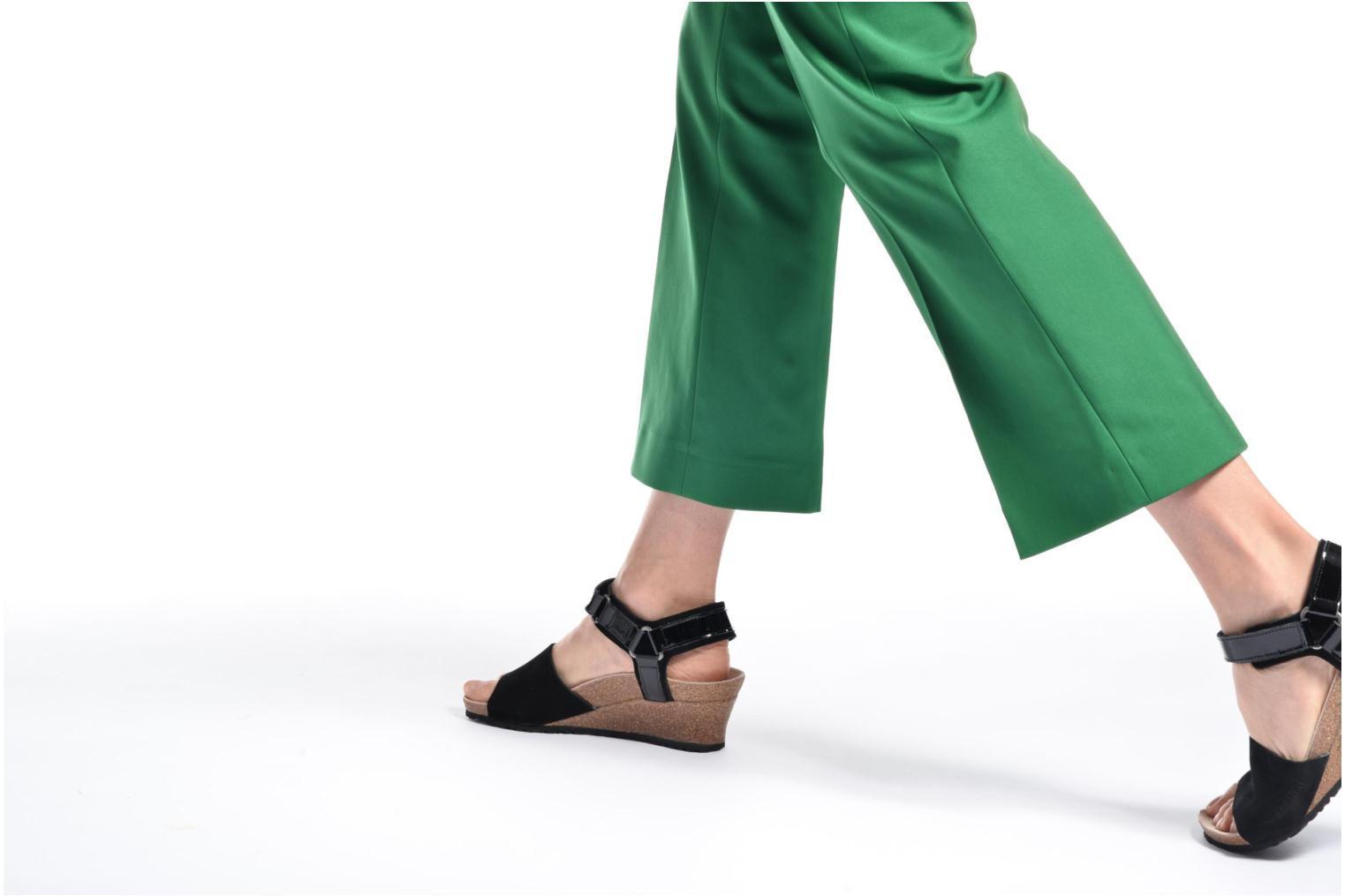 Sandals Papillio EVE Black view from underneath / model view