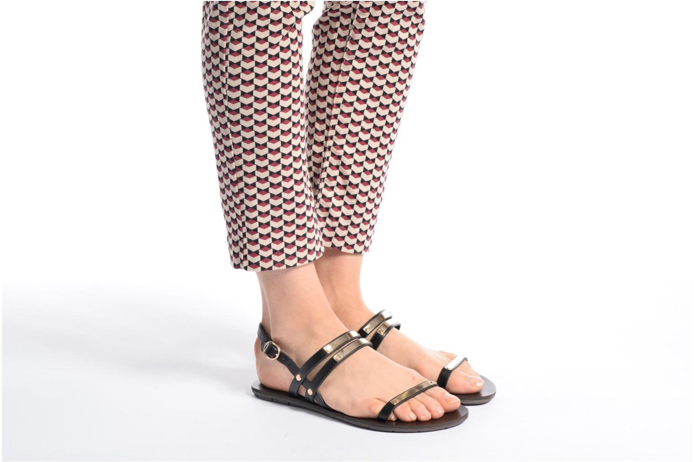 Sandales et nu-pieds Chattawak Lydie Noir vue bas / vue portée sac