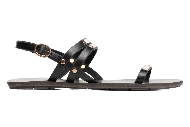 Sandales et nu-pieds Chattawak Lydie Noir vue derrière