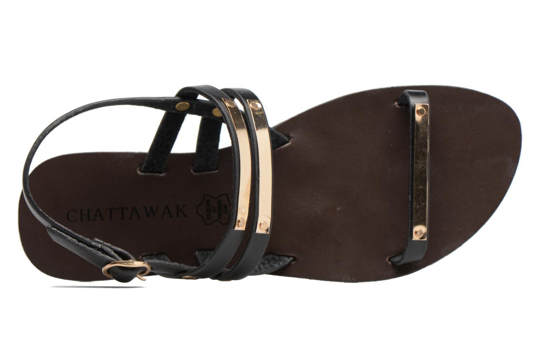 Sandales et nu-pieds Chattawak Lydie Noir vue gauche