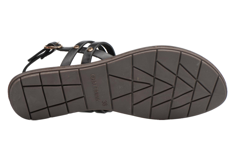 Sandales et nu-pieds Chattawak Lydie Noir vue haut