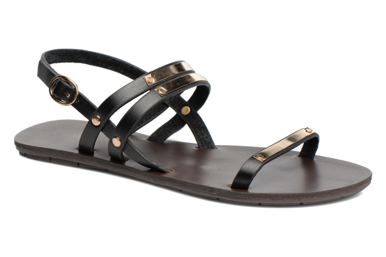 Sandaler Chattawak Lydie Sort detaljeret billede af skoene