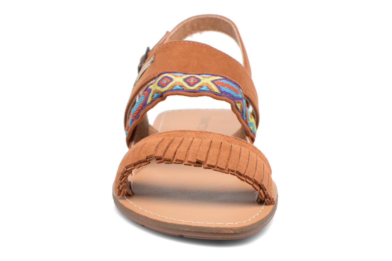 Sandales et nu-pieds Chattawak Marjorie Marron vue portées chaussures