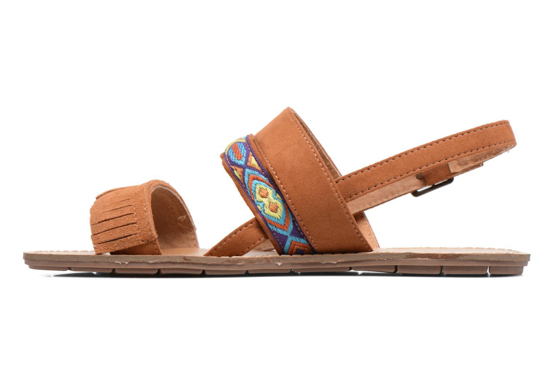 Sandales et nu-pieds Chattawak Marjorie Marron vue face