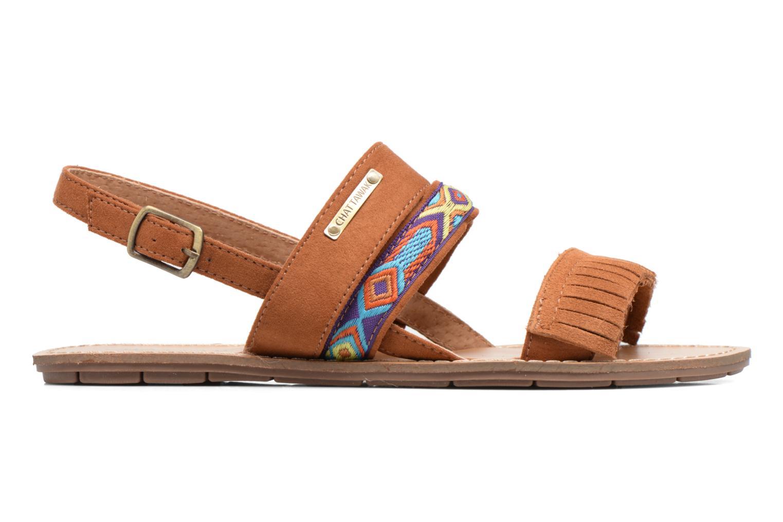 Sandales et nu-pieds Chattawak Marjorie Marron vue derrière