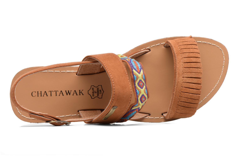 Sandales et nu-pieds Chattawak Marjorie Marron vue gauche