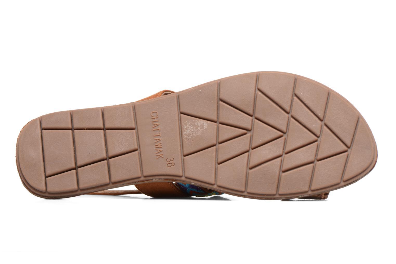 Sandales et nu-pieds Chattawak Marjorie Marron vue haut
