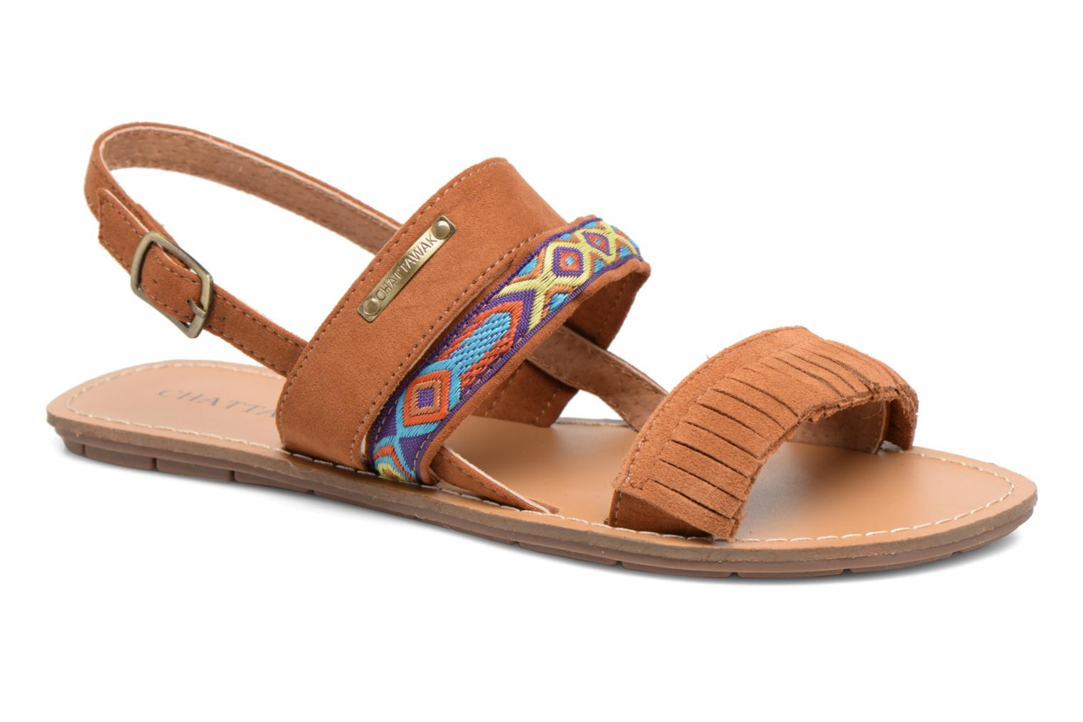 Sandals Chattawak Marjorie Brown detailed view/ Pair view