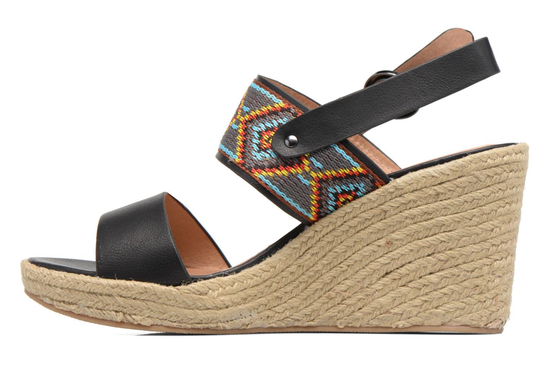 Sandales et nu-pieds Chattawak Helena Noir vue face