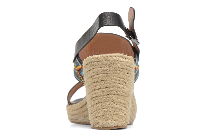 Sandales et nu-pieds Chattawak Helena Noir vue droite