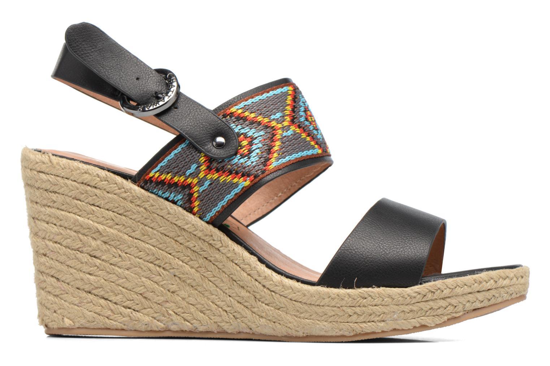 Sandales et nu-pieds Chattawak Helena Noir vue derrière