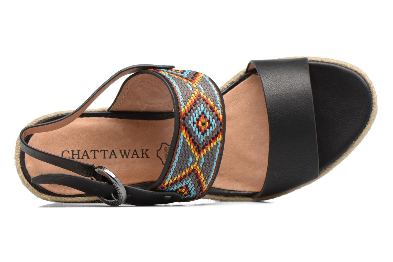 Sandales et nu-pieds Chattawak Helena Noir vue gauche