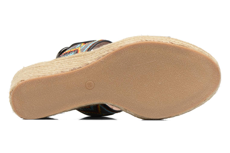 Sandales et nu-pieds Chattawak Helena Noir vue haut