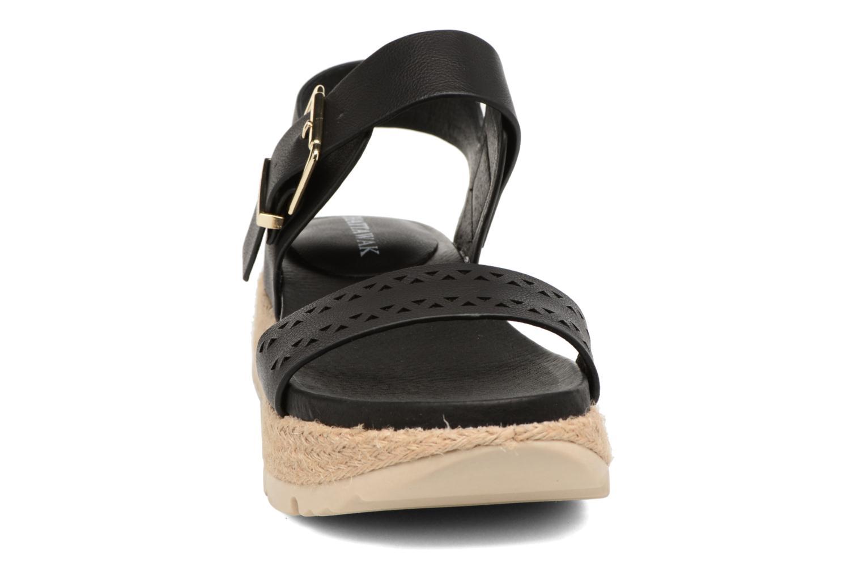 Sandales et nu-pieds Chattawak Justine Noir vue portées chaussures