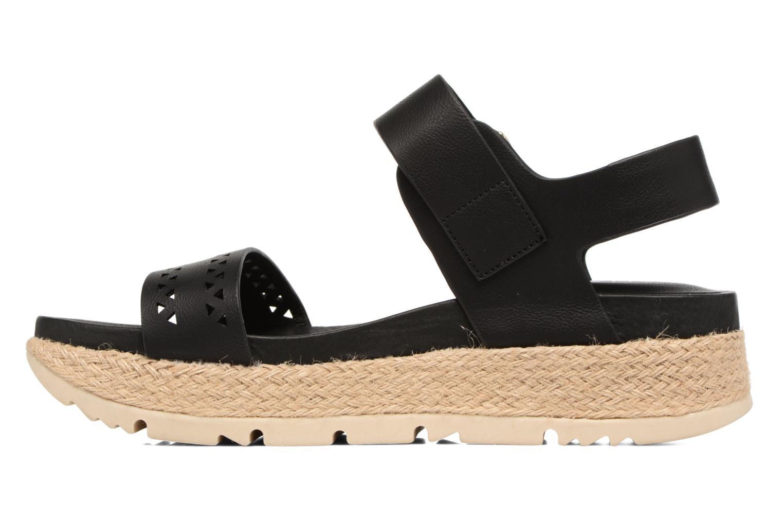 Sandales et nu-pieds Chattawak Justine Noir vue face